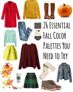 26 Essential Fall Color Palettes You Need To Try Really inspiring! ;) xxx