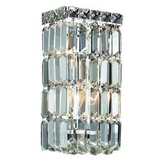 Add a stylish accent to your home with this clear crystal and metal light. The design adds graceful illumination to any décor.