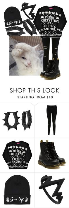 """""""Blink back to let me know"""" by biter-sweet ❤ liked on Polyvore featuring West Coast Jewelry, Mon Cheri, Miss Selfridge, Boohoo and Dr. Martens"""