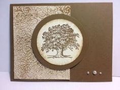 Lovely as a Tree Textured Waxed Paper Technique Stampin' Up! Rubber Stamping Handmade cards by bethany