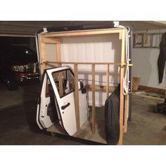 Jeep hard top and door caddie!