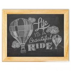 Life is a Ride Chalkboard Art Canvas Print