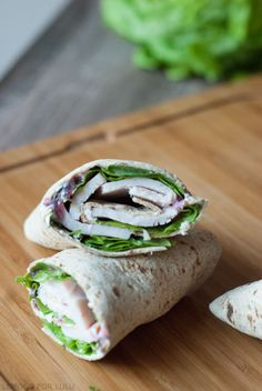 Turkey sandwiches get and update with these spicy sweet wraps! Easy way to use up Thanksgiving leftovers.
