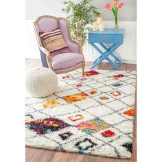 Shop for nuLOOM Sot and Plush Moroccan Color Burst Lattice Shag Multi Rug (4' x 6'). Get free shipping at Overstock.com - Your Online Home Decor Outlet Store! Get 5% in rewards with Club O! - 17854722