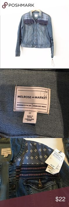 Nordstrom Jean Jacket NWT! Nordstrom New With Tags! Melrose jacket with adorable detail. Feel free to ask questions :) Loved in Portland, Oregon.      Open to offers//No Low Balls//Feel free to Ask question!                                                            No Modeling but can put on mannequin if helpful!                               I treasure hunt so you can thrift easily  Nordstrom Jackets & Coats Jean Jackets