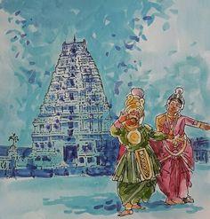 Karnataka Culture Abstract Painting