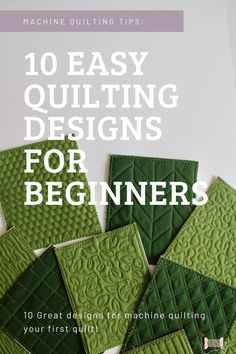 Ready to quilt your quilt and don't know what design to choose? If you're new to machine quilting and are looking for a great easy quilting design for beginners, continue reading for 10 great ideas! #quiltingprojects #machinequiltingtips #quiltingwemple #quilting #quilttutorials