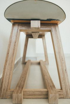 Customised bare european birch plywood snowboard bench for Keefe by Roger&Sons Bespoke Furniture Carpentry Singapore