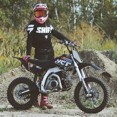 Pit Bike, Atv Motocross, Girly, Motorbikes, Yamaha, Bicycle, Dirt Biking, Motorcycle, Vehicles
