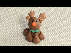 How to Make a Fondant Reindeer Cupcake/Cake decoration - YouTube