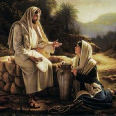 Johannnes 4 - Jesus Christ and the Samaratan woman at the well - Simon Dewey Lds Pictures, Pictures Of Christ, Easter Pictures, Arte Lds, Simon Dewey, Image Jesus, Jesus Christus, Lds Art, Life Of Christ
