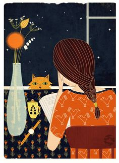 bibliolectors: Largas noches de verano, largas noches de lectura (ilustración…