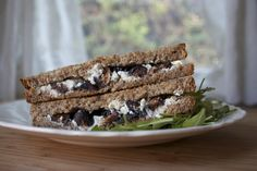 Grilled Goat Cheese Sandwich with Honey and Figs