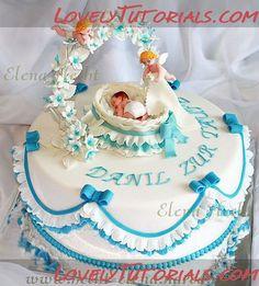Идеи тортов на крестины -Christening cake photos - Мастер-классы по украшению тортов Cake Decorating Tutorials (How To's) Tortas Paso a Paso