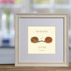 Hedgehog Snog personalised print £48