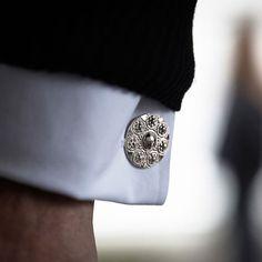 Silver cufflinks | Designer cufflinks | Augustine