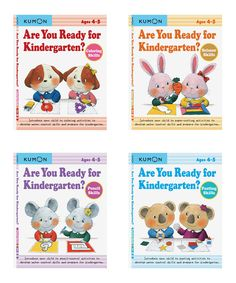 Help your little learner develop crucial skills before they start kindergarten with this prep book bundle. Includes pasting skills, scissor skills, coloring skills and pencil skillsPublisher: Kumon PublishingPaperback / 64 pages eachRecommended for ages 4 to 5 years