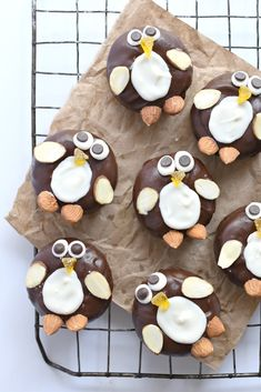 Penguin Chocolate Frosted Mini Donuts (gluten free vegan)