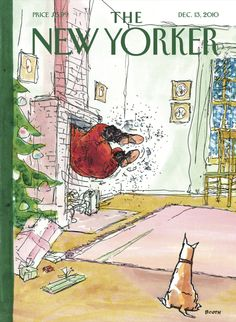 The New Yorker Cover - December 13, 2010 - oh-oh-OH! by George Booth