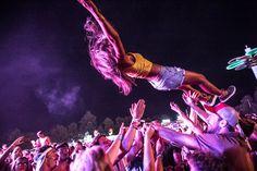 Festival goers having fun at the Balaton Sound music festival in Zamardi next to the Lake of Balaton, 110 km (68 miles) west of Budapest, July 8, 2017. (Photo by Zsolt Furesz/Rockstar Photographers)
