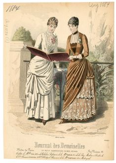 Women 1884, Plate 015 1880s Fashion, Victorian Fashion, Victorian Era, Vintage Fashion, Fashion Illustration Vintage, Vintage Illustrations, Fashion Illustrations, Fashion Templates, Victorian Costume