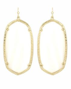 Love these oval shaped earrings--I have them in white!