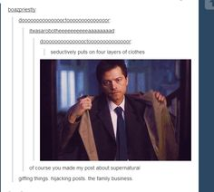 Four Layers of Clothes ||| Supernatural Has a GIF for Everything