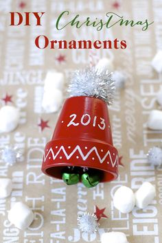 Cute and fun DIY Christmas ornaments, including this cute little winter hat with jingle bells and pom-pom top, to make for friends or keep for yourself!