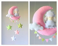 Mobile bébé - lune mobile Mobile bébé - berceau Mobile Moon - mouton