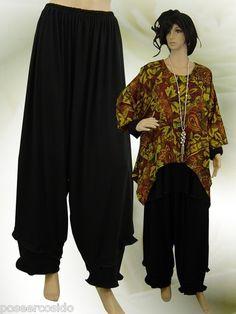 ☸ڿڰۣ— PoCo DeSiGn LAGENLOOK Hose Ballonhose Marlene- Hose Shirt Long-GR /L-XXXL | eBay