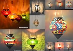 DliteCrafts: Glass T-Light Metal Fitting Hanging