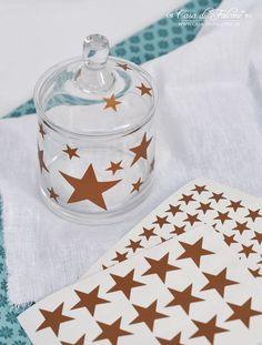 Konturensticker Sterne aus Kupferfolie I konturengeschnittene Aufkleber I Star I…