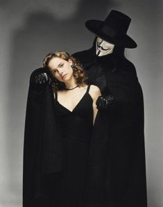"Natalie Portman & Hugo Weaving - ""V for Vendetta"" Directed by James McTeigue V For Vendetta Poster, V For Vendetta Movie, V For Vendetta 2005, V For Vendetta Evey, V For Vendetta Costume, Hugo Weaving, V Comme Vendetta, V Pour Vendetta, Natalie Portman"
