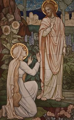 St Mary Magdalene sees the Risen Lord Catholic Pictures, Pictures Of Jesus Christ, Jesus Our Savior, Jesus Art, Religious Images, Religious Art, Mary Magdalene And Jesus, Noli Me Tangere, Jesus Painting