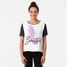 'Beautiful design' Chiffon Top by Photo Vintage, Vintage T-shirts, Namaste, Beauty P, Cheap T Shirts, Female Bodies, Pink Flowers, Chiffon Tops, Retro Fashion
