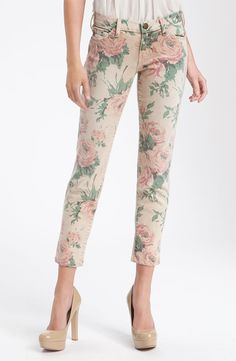Current/Elliott 'The Stiletto' Floral Skinny Leg Jeans