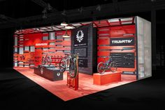 "Honor alert: already on the first day the magazine MBT News tagged our exhibition design for SRAM at #EUROBIKE2016 with the ""best booth of the EUROBIKE"" sticker – thank you! #ExhibitionDesign #TradeFairBooth"
