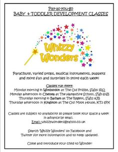 Whizzy Wonders 'pay as you go' baby & toddler classes in Merton - Baby Signing and Multi Sensory Classes (3) - Netmums
