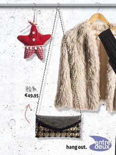 Op zoek naar een eyecatcher bij je outfit? Check dan snel dit leuke schoudertasje met opvallende details. H&M € 49,95