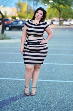 crystal coons plus size ootd eloquii striped bodycon dress dresses fashion