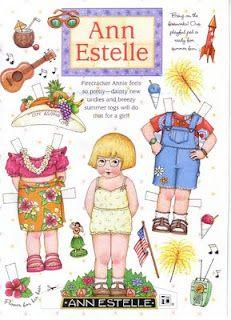 Mary Englebreit's Ann Estelle Summer paper doll