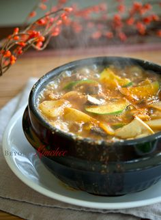 Recipe: Beef Doenjang Jjigae, Korean soy bean paste stew with beef