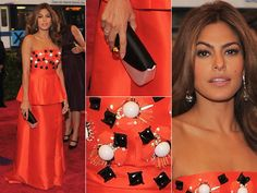 Eva Mendes in Prada. She was put on the worst dress list, but I disagree. The hem line on this Prada dress is much better then Jessica beil's