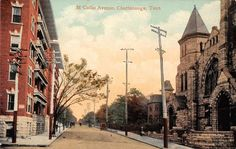Chattanooga Tennessee McCallie Avenue Antique Postcard (J35298)