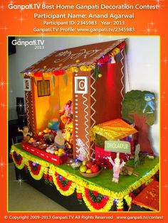 Anand Agarwal Home Ganpati Picture 2013. View more pictures and videos of Ganpati Decoration at www.ganpati.tv