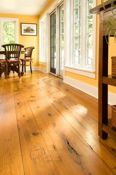 Eastern Hit Or Miss White Pine In A Traditional Living Room