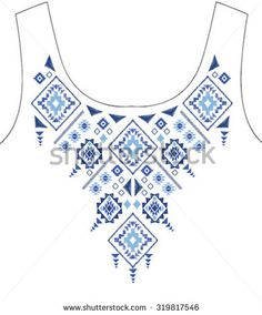 ethnic graphic for t-shirt Border Embroidery Designs, Geometric Embroidery, Mexican Embroidery, Diy Embroidery, Embroidery Stitches, Embroidery Patterns, Machine Embroidery, Embroidery On Clothes, Embroidery Fashion