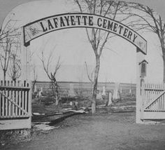 ✯ Lafayette Cemetery, Lafayette, OR. The cemetery has a few ghosts, but the most prevalent is that of a woman who was hung for being a witch. The night before her hanging she cursed the town and said that it would burn to the ground three times. So far the town has burned to the ground twice! Those who have come across the witch's ghost in the cemetery have reported being chased away while she screams and lashes out at them, and victims have scars on their backs as proof of the attacks.✯