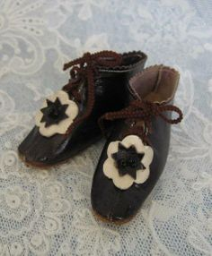 Super Fabulous Antique French Fashion Doll Shoes Marked