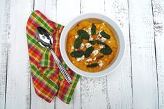 A perfect savory side dish for Fall - butternut squash, goat cheese, pine nuts topped with fried sage leaves. Roasted Butternut Squash, Goat Cheese, Sage, Goats, Fries, Curls, Heaven, Favorite Recipes, Cooking